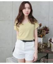 Nursing Tops - V Stripe Yellow Green