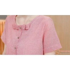 Maternity Blouse - Mid Ribbon Red