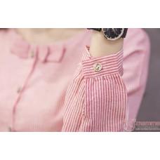 Maternity Blouse - Mid Ribbon Grey Long