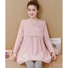 Nursing Tops - Long Rabbit Pink