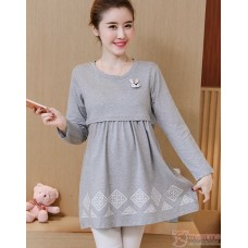 Nursing Tops - Long Rabbit Grey