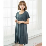 Nursing Dress - Front Joint Grey