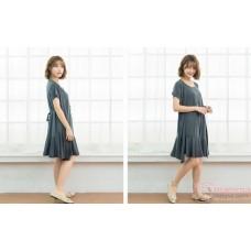 Nursing Dress - Front Joint Grey