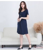Nursing Dress - Front Joint Dark Blue