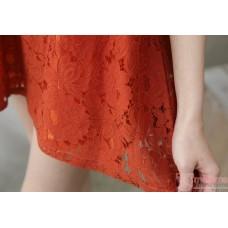 Nursing Tops - 2pcs Lace Orange Red