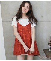 Nursing Tops - 2pcs Lace Orange Red
