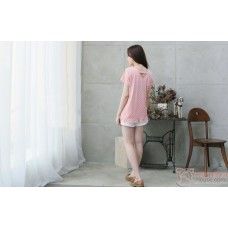 Nursing Tops - Polka Smooth Pink