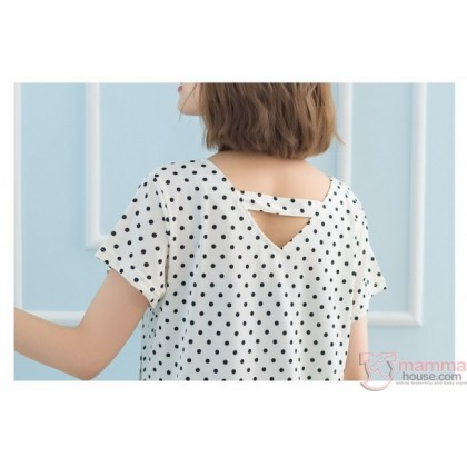 Nursing Tops - Polka Smooth Pink
