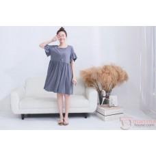 Nursing Dress - Flora Sleeves Grey