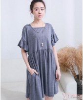 Nursing Dress - Flora Sleeves Grey