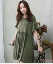 Nursing Dress - Flora Sleeves Dark Green