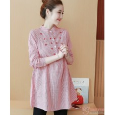Maternity Blouse - Chest Flora Red