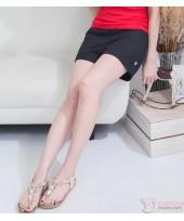 Maternity Shorts - Side Button Black