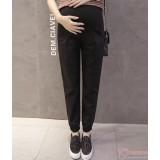 Maternity Pants - Working Linen Black