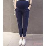 Maternity Pants - Working Linen Dark Blue