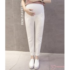 Maternity Pants - Working Linen White