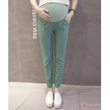 Maternity Pants - Working Linen Green