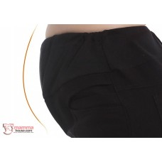 Maternity Shorts - Side Button Black