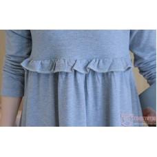 Nursing Dress - Flora Grace Long Grey