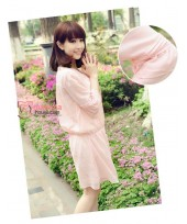 Maternity Tops - Korean Chiffon Liz Pink