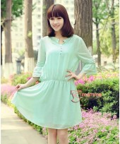 Maternity Tops - Korean Chiffon Liz Green