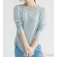 Maternity Tops - Long Simple Blue