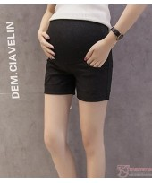 Maternity Shorts - Fold Simple Black