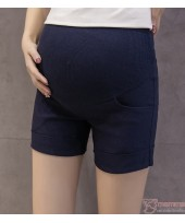 Maternity Shorts - Fold Simple Dark Blue