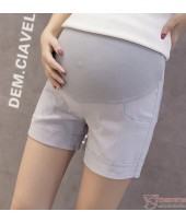 Maternity Shorts - Fold Simple Grey