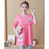 Nursing Tops - Long Bear Pink