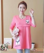 Nursing Tops - Long Bear Pink
