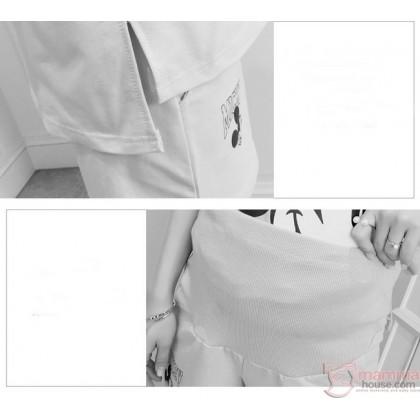 Maternity Set - 2pcs Mickey Grey Short Sleeves