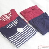 Mamma Pajamas - JP Stripe Short Blue