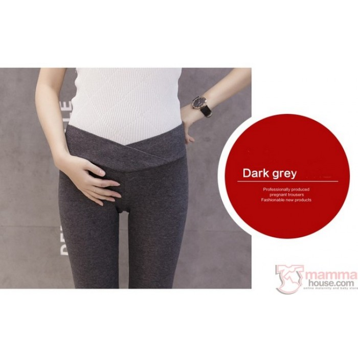 4e9244b1dbabe2 Maternity Legging - Low Waist Dark Grey