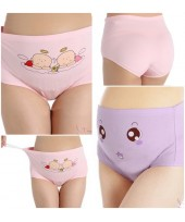 Maternity Panties Set - Cotton Purple Eye,Pink Baby