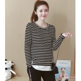 Maternity Blouse - Stripe Black Stylish Blouse