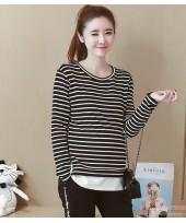 Maternity Blouse - Stripe Black Stylish Blouse