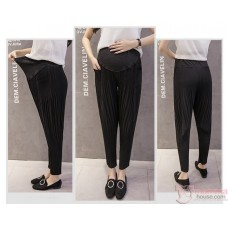 Maternity Pants - Working Slim Line Black (S,M~XXL)