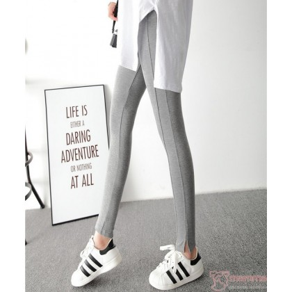 Maternity Legging - Lines Grey