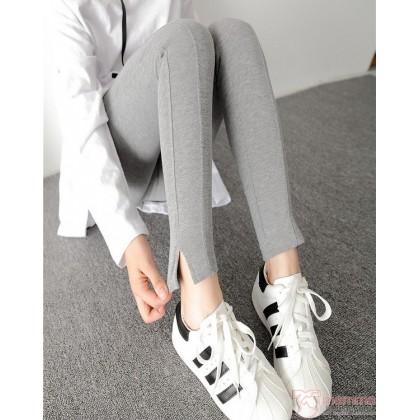 Maternity Legging - Lines Grey