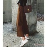 Maternity Pants - Working Wide-Leg Brown