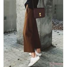 Maternity Pants - Working Wide-Leg Brown