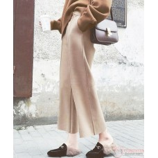 Maternity Pants - Working Wide-Leg Beige