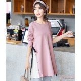 Maternity Blouse - Ribbon Side Ribbon Pink