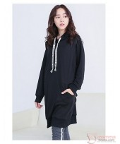 Nursing Tops - Long Hat Black Blouse