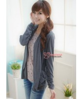 Nursing Tops - Long 2 pcs Grey