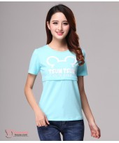 Nursing Tops - Tsum Light Blue