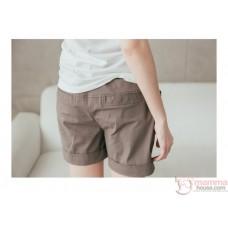 Maternity Shorts - Pocket Button Black