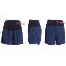 Maternity Shorts - Polka Blue
