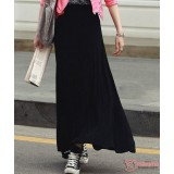 Maternity Long Skirt - Modal Cotton Black or Grey